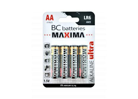 Alkalická mikrotužková 1,5V batéria BC MAXIMA LR6/4BP
