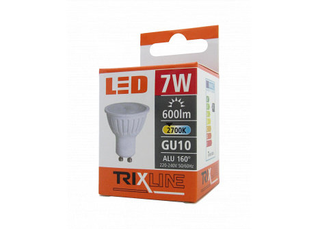 LED žiarovka BC TR 7W GU10 teplá biela