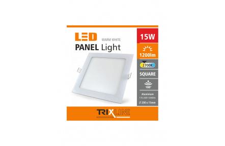 Podhľadové LED svietidlo TRIXLINE – štvorcové 15W teplá biela