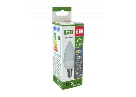 LED žiarovka BC TR 6W E14 C35 neutrálna biela