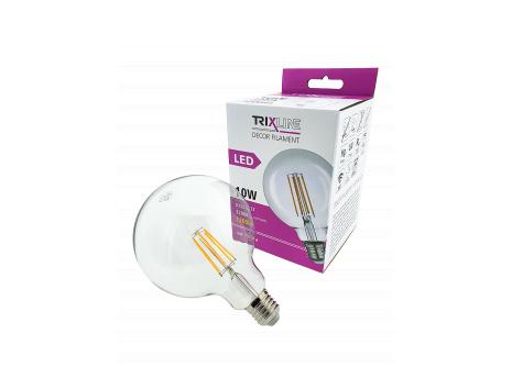 Dekoračná LED žiarovka FILAMENT Trixline 10W G-125 E27 teplá biela