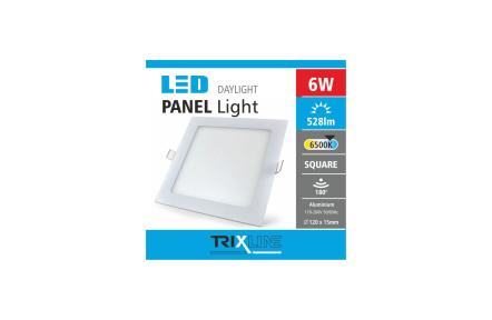 Podhľadové LED svietidlo TRIXLINE – štvorcové 6W studená biela