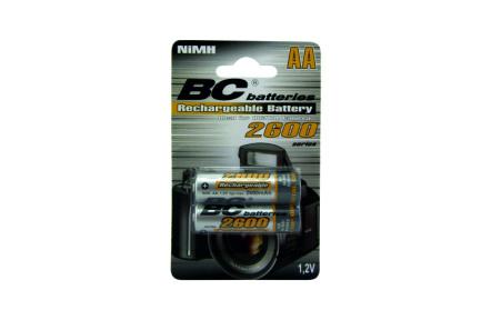 nabíjateľná 1,2V tužková batéria BCR6/2600/2BP
