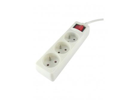 Predlžovací prívod 3 zásuvky s vypínačom, 5m