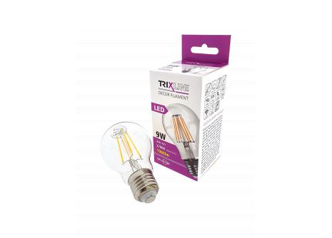 Dekoračná LED žiarovka FILAMENT 9W A60 E27 teplá biela