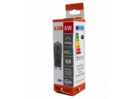LED žiarovka BC TR 6W G9 teplá biela
