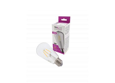 Dekoračná LED žiarovka FILAMENT Trixline 4W ST-64 E27 teplá biela