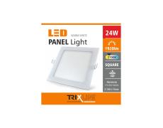 Podhľadové LED svietidlo TRIXLINE – 24W štvorcové teplá biela