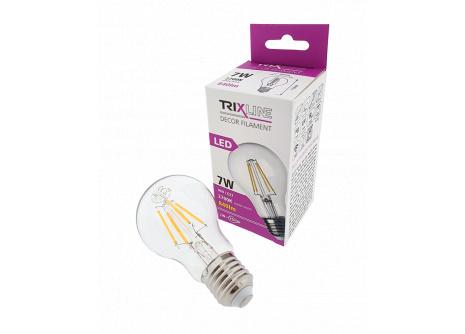 Dekoračná LED žiarovka FILAMENT 7W A60 E27 teplá biela