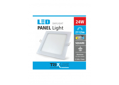 Podhľadové LED svietidlo TRIXLINE – štvorcové 24W studená biela