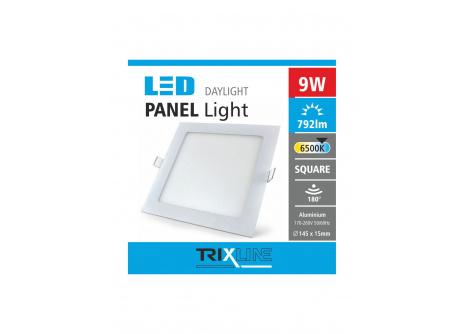 Podhľadové LED svietidlo TRIXLINE – štvorcové 9W studená biela