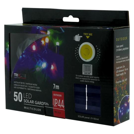 Solárna vianočná LED reťaz TR 318 multicolor