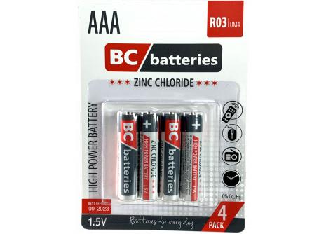 Zinkochloridová 1,5 tužková batéria R03/4P