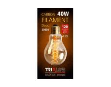 Dekoračná stmievateľná žiarovka Trixline 40W E27 (A19-S24)