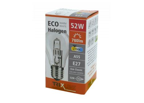 Halogénová žiarovka BC 52W E27 teplá biela