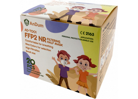 Respirátor  detský FFP2  AD-T001/ XS Light Green