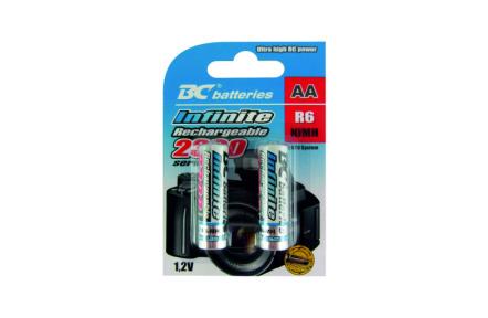 Nabíjateľná 1,2V tužková batéria BCR6/2300/2BP RTU Infinite