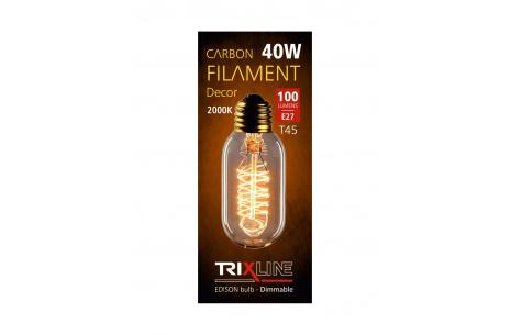 Dekoračná stmievateľná žiarovka Trixline 40W E27 (T45-S24)