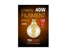 Dekoračná stmievateľná žiarovka Trixline 40W E27 (G125-S28)