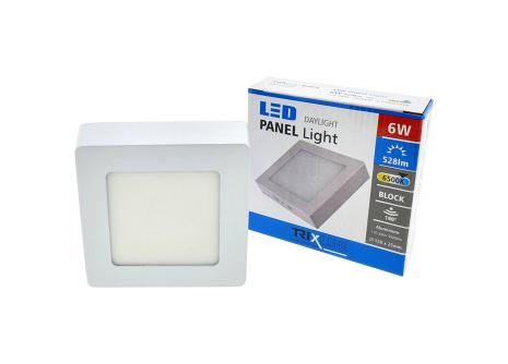 Podhľadové LED svietidlo TRIXLINE – prisadené štvorcové 6W studená biela