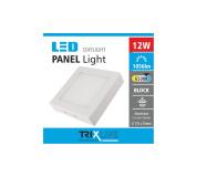 Podhľadové LED svietidlo TRIXLINE – prisadené štvorcové 12W studená biela