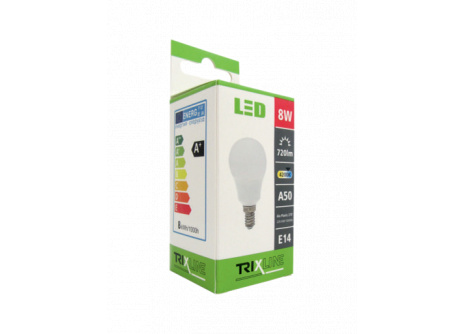 LED žiarovka BC TR 8W E14 A50 neutrálna biela