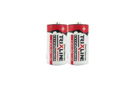 Zinkochloridový malý 1,5V monočlánok BC R14/2P TRIXLINE Extra power