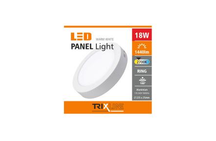 Podhľadové LED svietidlo TRIXLINE – prisadené kruhové 18W teplá biela