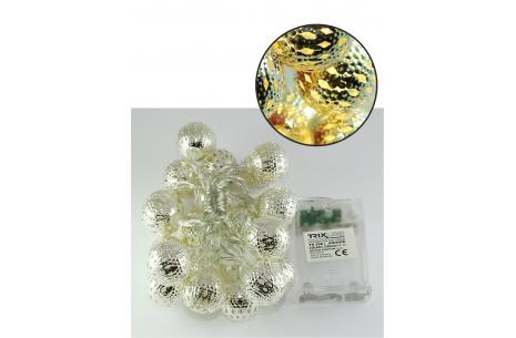 Vianočná LED reťaz Trixline marocké gule teplá biela