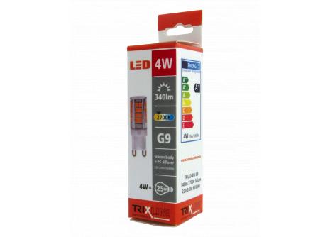 LED žiarovka BC TR 4W G9 teplá biela
