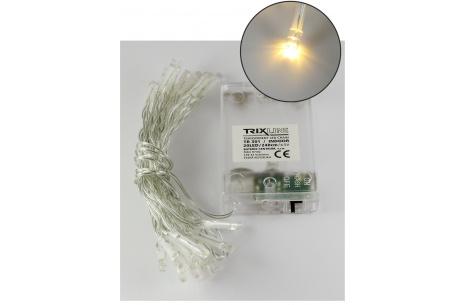 Vianočná LED reťaz Trixline teplá biela