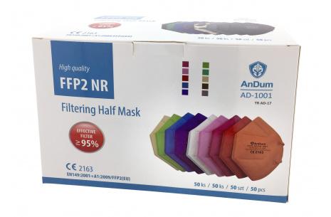 Respirátor FFP2 AD-1001 barevné