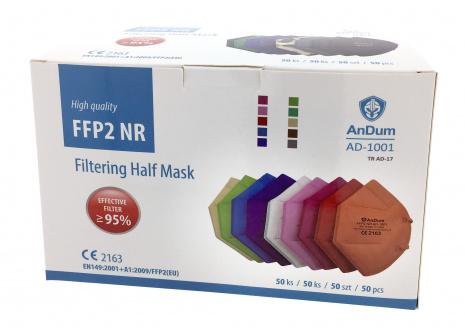 Respirátor FFP2 AD-1001 farebné