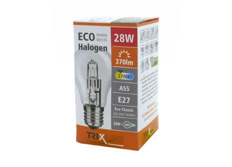 Halogénová žiarovka BC 28W E27 teplá biela