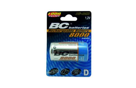 Nabíjateľný 1,2V veľký monočlánok BCR20/8000/2BP