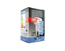 Špeciálna žiarovka BC R63 40W E27 teplá biela