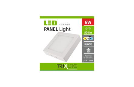 Podhľadové LED svietidlo TRIXLINE – prisadené štvorcové 6W neutrálna biela