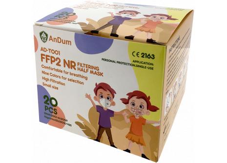 Respirátor  detský FFP2  AD-T001/ XS White Colour