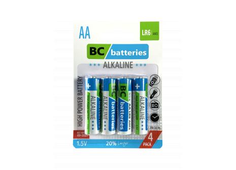 Alkalická tužková 1,5V batéria BC Extra power LR6/4P