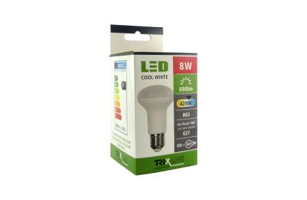 LED žiarovka TRIXLINE 8W R63 E27 4200K