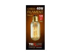 Dekoračná stmievateľná žiarovka Trixline 40W E27 (T45-SC13)