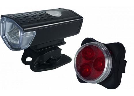 Set cyklo světel přední + zadní MAARS MS 351