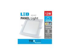 Podhľadové LED svietidlo TRIXLINE – štvorcové 12W studená biela