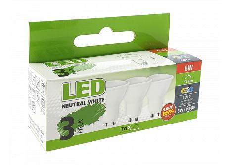 LED žiarovka BC TR 6W GU10 neutrálna biela 3 PACK