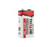 Zinkochloridová 9V batéria BC 6F22/1P TRIXLINE Extra Power