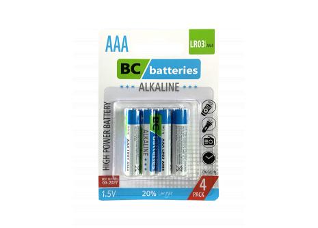 Alkalická mikrotužková 1,5V batéria BC Extra power LR03/4BP