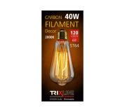 Dekoračná stmievateľná žiarovka Trixline 40W E27 (ST64-SC17)