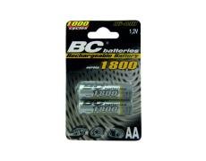 Nabíjateľná 1,2V tužková batéria BCR6/1800/2BP