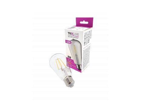 Dekoračná LED žiarovka FILAMENT Trixline 8W ST-64 E27 teplá biela
