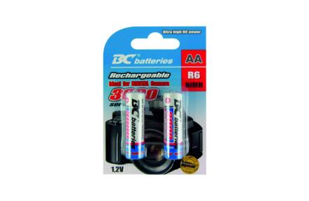 Nabíjateľná 1,2V tužková batéria BCR6/3000/2BP